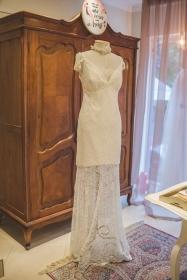 Os vestidos continuavam sendo a paixão das noivas