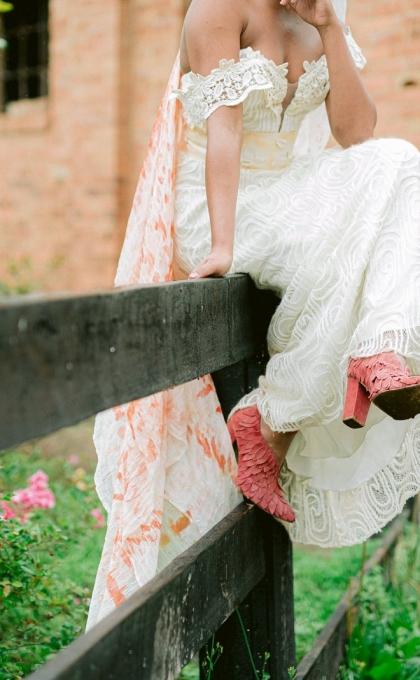 vestido noiva banho de folhas 5