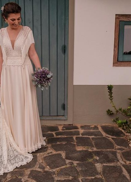 vestido noiva matricaria liso 6