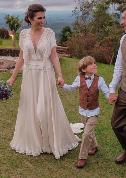 vestido noiva matricaria liso 7